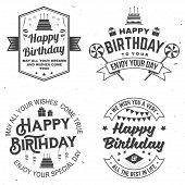 Set Of Happy Birthday Templates For Overlay, Badge, Sticker, Card With Bunch Of Balloons, Gifts, Ser poster