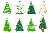 Christmas Tree Isolated On White Background. New Years Holiday. Christmas Fir-tree. Winter Characte poster
