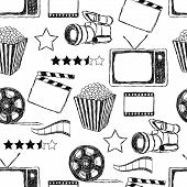 Doodle Movie Seamless Pattern