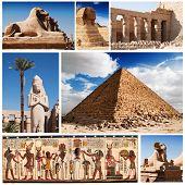 Постер, плакат: Египет Сфинкс и пирамиды коллекция