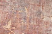 Wooden Background Of Old Cracked Brown Plywood With Cracks And Scratches poster