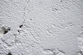 White Painted Texture Closeup Photo. White Plaster Brushed Texture. Grungy Concrete Wall. Minimal Ar poster
