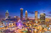 Atlanta, Georgia, USA downtown skyline at dawn. poster