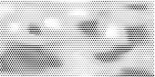Grange Halftone Texture Of Black And White Dots. Minimal Geometric Background.  Vector Illustration  poster