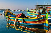 Colored  boats, Malta