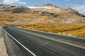 stock photo of beartooth  - Part of yet another hairpin turn on the Beartooth Highway in Wyoming - JPG