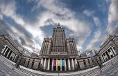 pic of polonia  - Most famous building in Warsaw Poland - Palace of Culture and Science