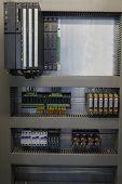 stock photo of plc  - Automation with PLC and relays in industrial process - JPG