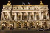 Постер, плакат: Опера Гарнье в ночное время Париж