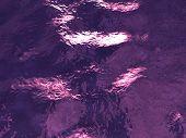 Постер, плакат: Фэнтези чужеродных неизвестных розовой воды поверхность с волнами