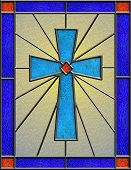 Realistic Celtic Cross Stained Glass
