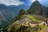 Ancient inca lost city of Machu Picchu, Peru