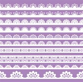 Set Of Beautiful Lace Vector Trims