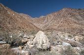 stock photo of anza  - View along the Palm Canyon Trail in the Anza - JPG