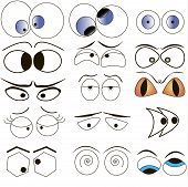 Conjunto de ojos Cartoon
