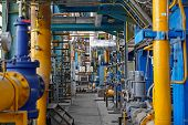 picture of thermal  - Industrial interior of a thermal power plant - JPG