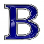 picture of b-double  - Metal silver and blue alphabet letter symbol  - JPG