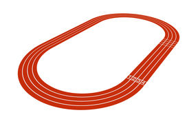 foto of olympiade  - Standard running track on a white background - JPG