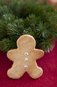 stock photo of home-made bread  - Home made Gingerbread Man Cookies for christmas - JPG