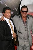 Sylvester Stallone and Mickey Rourke at the