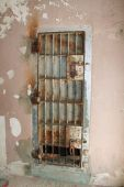 pic of boise  - Jail cell door at historic old Idaho penitentiary in Boise - JPG