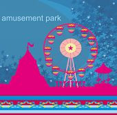 Abstract Card - Amusement Park Illustration