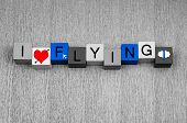 foto of aeroplane symbol  - I Love Flying - JPG