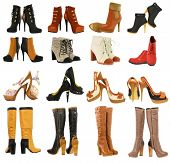 foto of lady boots  - different set of  Womens shoes - JPG