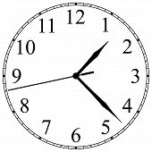 picture of arabic numerals  - clock - JPG