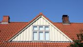 stock photo of red roof tile  - roof loft conversion or dormer - JPG