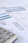 pic of payroll  - Close up of payroll summary detail with figures and euro - JPG