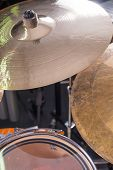 stock photo of drum-kit  - A closeup take of a classic drum kit - JPG