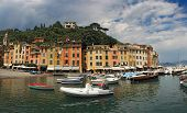 picture of genova  - Portofino village near Rapallo Genova Ligurian Coast Italy - JPG