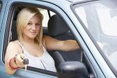picture of 16 year old  - Teenage girl in car - JPG