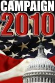 image of midterm  - Design for Campaign 2010 in the United States with flag and US Capitol dome in the background - JPG