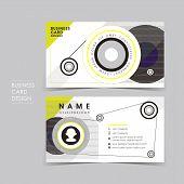 pic of senses  - vector business card set template with design sense - JPG