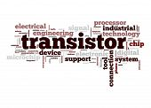 stock photo of transistor  - Transistor word image with hi - JPG
