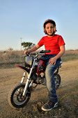 stock photo of kiddie  - Motocross track the dream of all children - JPG