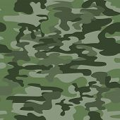 pic of ammo  - Seamless camouflage military pattern in green vector - JPG
