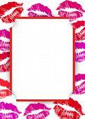 pic of slit  - Lipstick kiss border with red corner slits - JPG