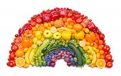 foto of exotic_food  - fruit and vegetable rainbow - JPG
