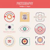pic of mass media  - Vector collection of photography logo templates - JPG