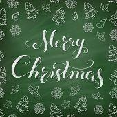 picture of winterberry  - Christmas Chalkboard pattern - JPG