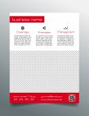 stock photo of prospectus  - Minimalistic business flyer template  - JPG