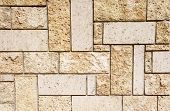 image of tile cladding  - New stone cladding plates on wall closeup - JPG