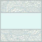 picture of art nouveau  - Detailed and ornamental vector frame template in asian art - JPG