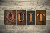 foto of quit  - The word  - JPG