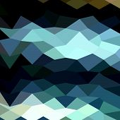 image of aquamarine  - Low polygon style illustration of aquamarine surf abstract geometric background - JPG