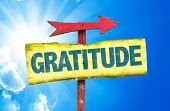 picture of humility  - Gratitude sign with sky background - JPG
