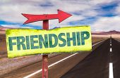 picture of bff  - Friendship sign with road background - JPG